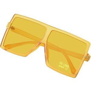 Women's Yellow Square Sunglasses Lens Frames